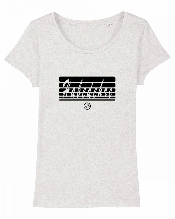 Habedehre - Damen T-Shirt - Weiß Gesprenkelt - XXL