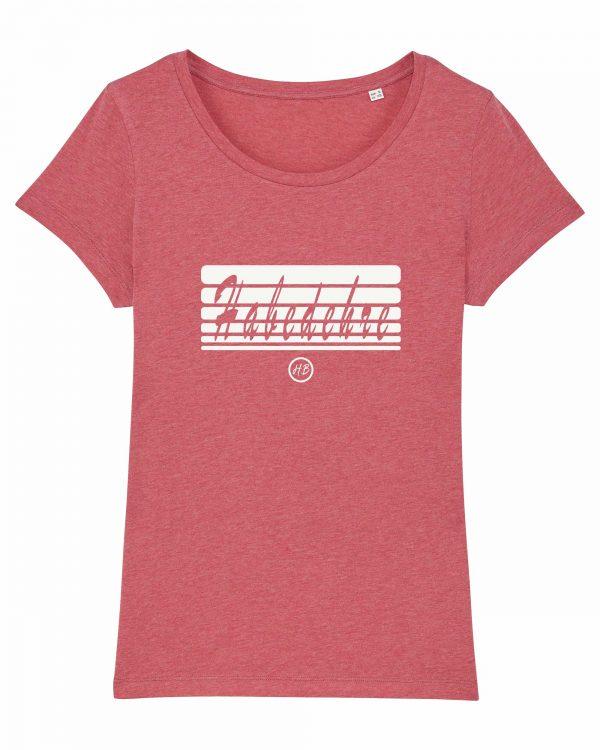 Habedehre - Damen T-Shirt - Himbeerrot Gesprenkelt - XXL