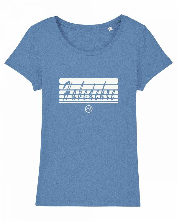 Habedehre - Damen T-Shirt - Hellblau Gesprenkelt - XXL