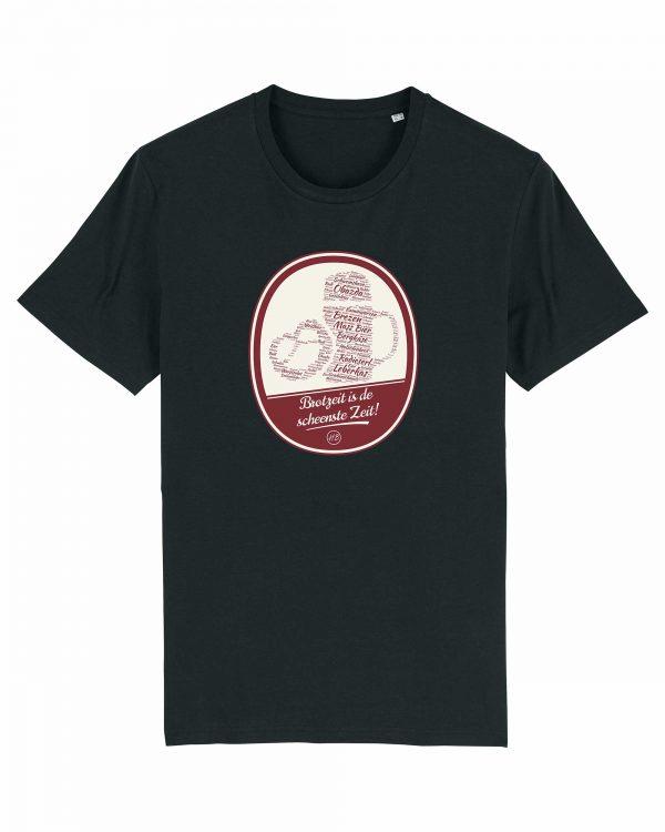 Brotzeit is de scheenste Zeit - Herren T-Shirt - Schwarz - 3XL