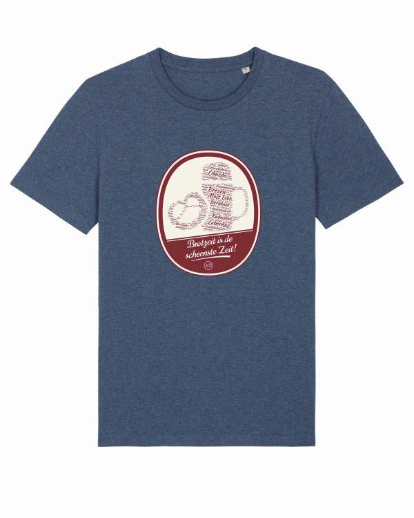 Brotzeit is de scheenste Zeit - Herren T-Shirt - Dunkelblau Gesprenkelt - 3XL