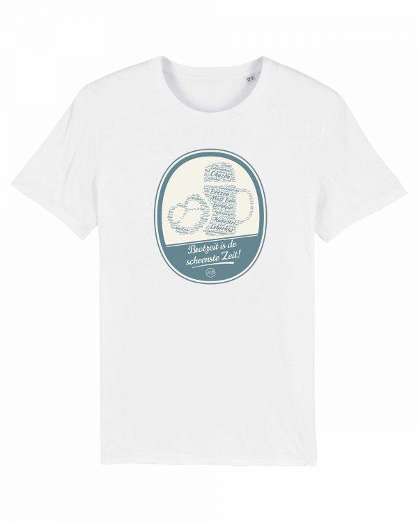 Brotzeit is de scheenste Zeit - Herren T-Shirt - Weiß - 3XL
