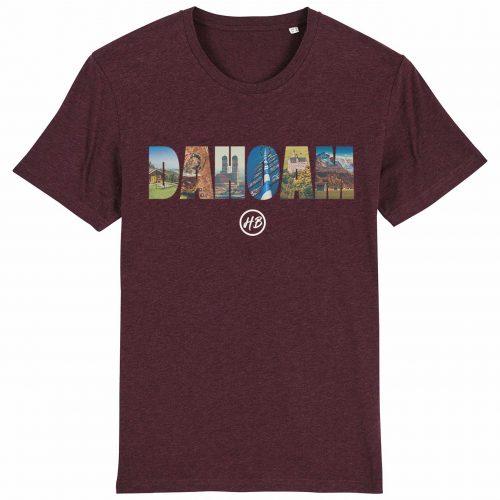 Dahoam - Herren T-Shirt - Weinrot Gesprenkelt - 3XL