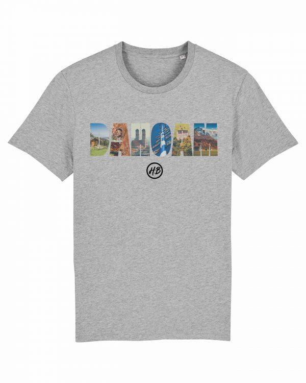 Dahoam - Herren T-Shirt - Hellgrau Gesprenkelt - 3XL