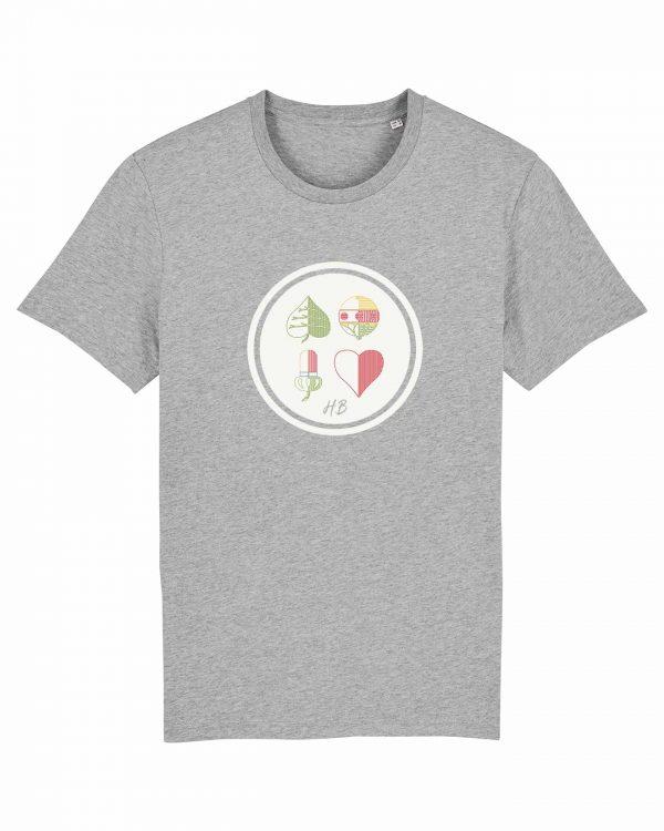 Kartnspuin - Herren T-Shirt - Hellgrau Gesprenkelt - 3XL