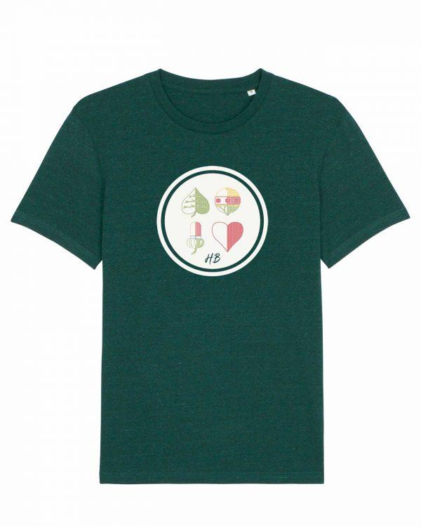 Kartnspuin - Herren T-Shirt - Dunkelgrün Gesprenkelt - 3XL