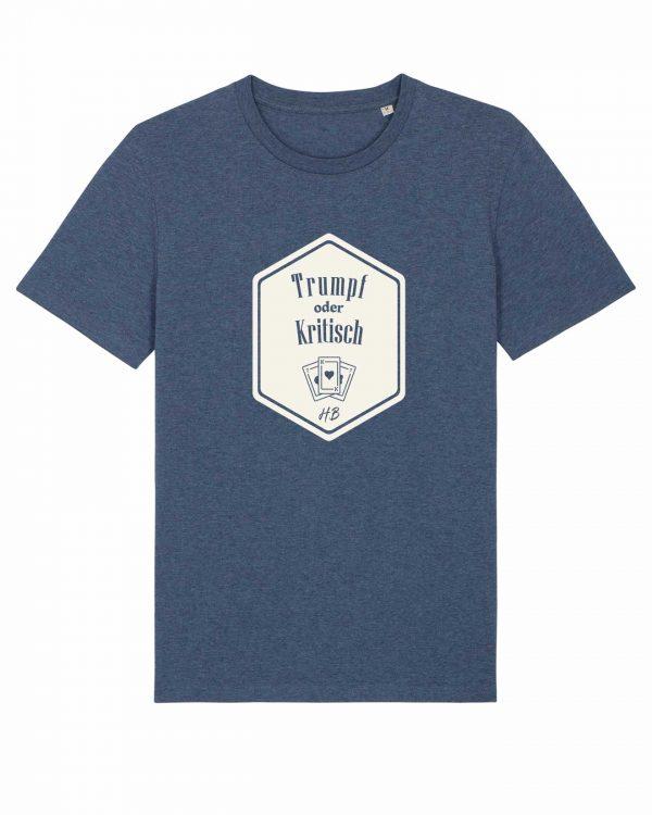 Trumpf oder Kritisch - Herren T-Shirt - Dunkelblau Gesprenkelt - 3XL