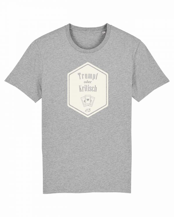 Trumpf oder Kritisch - Herren T-Shirt - Hellgrau Gesprenkelt - 3XL