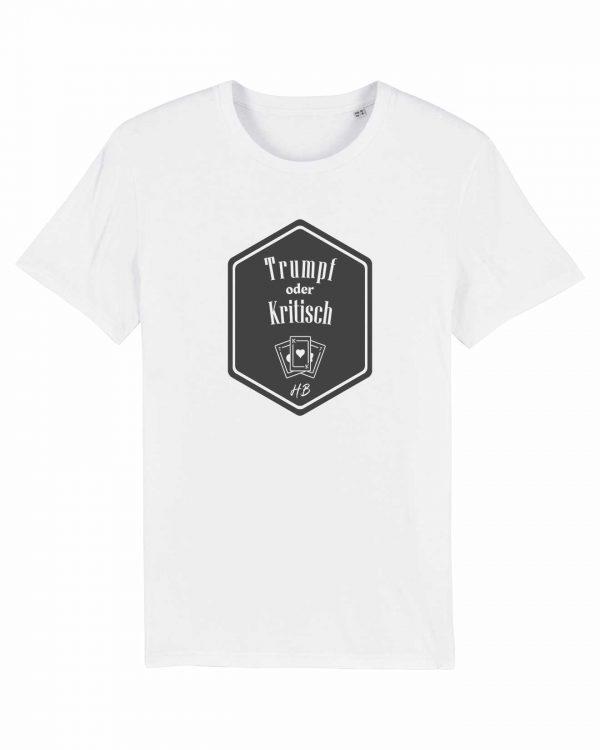 Trumpf oder Kritisch - Herren T-Shirt - Weiß - 3XL