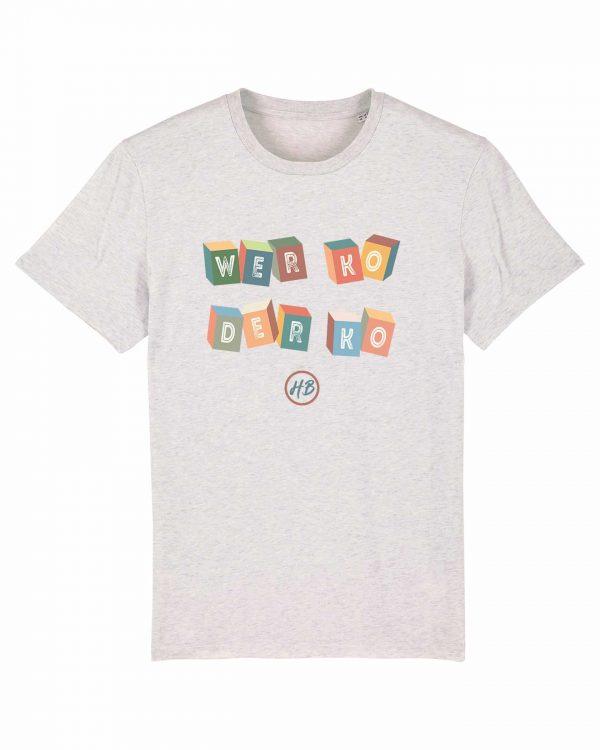 Wer Ko Der Ko - Herren T-Shirt - Weiß Gesprenkelt - 3XL
