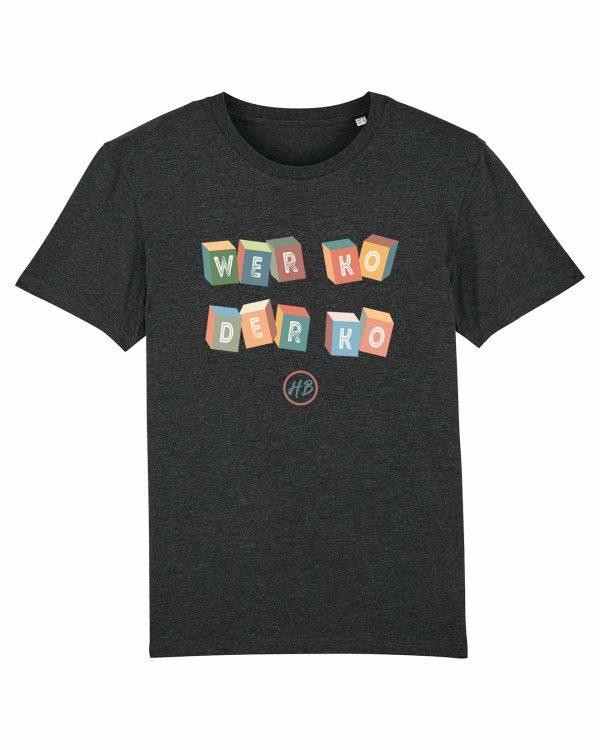 Wer Ko Der Ko - Herren T-Shirt - Dunkelgrau Gesprenkelt - 3XL