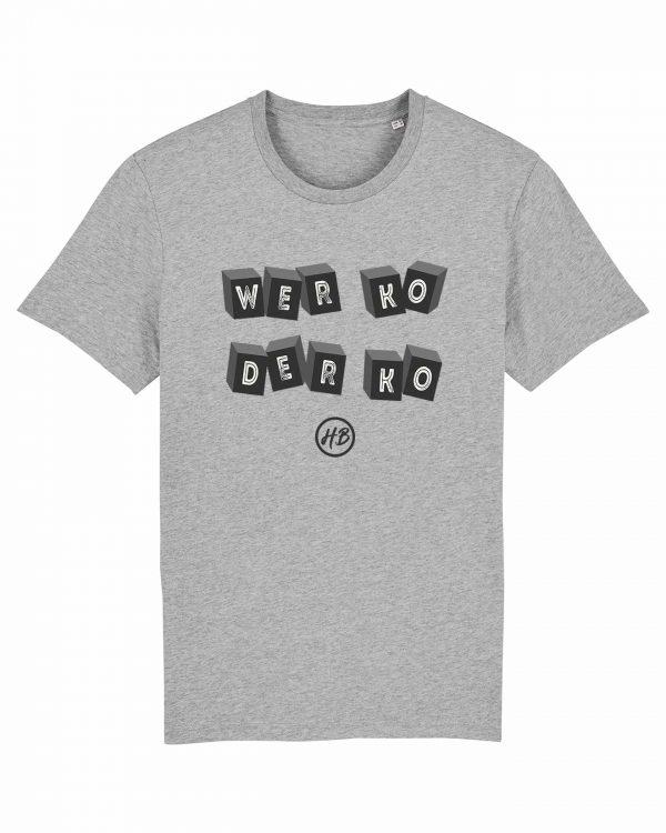 Wer Ko Der Ko - Herren T-Shirt - Hellgrau Gesprenkelt - 3XL