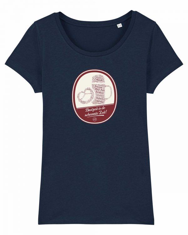 Brotzeit is de scheenste Zeit - Damen T-Shirt - Dunkelblau - XXL