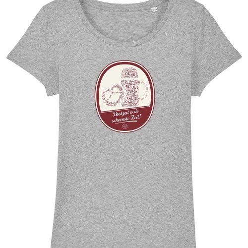 Brotzeit is de scheenste Zeit - Damen T-Shirt - Hellgrau Gesprenkelt - XXL