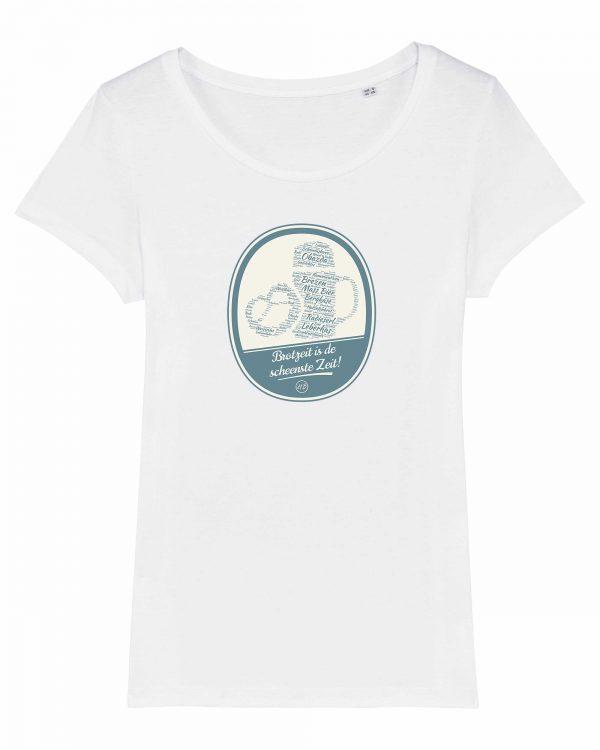 Brotzeit is de scheenste Zeit - Damen T-Shirt - Weiß - XXL