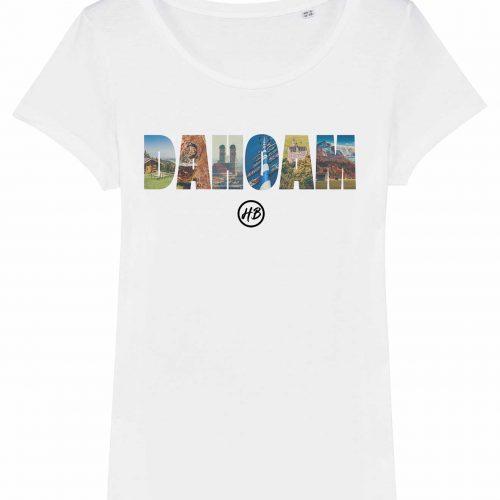 Dahoam - Damen T-Shirt - Weiß - XXL