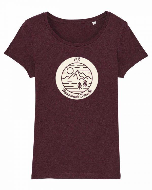 Hauptsach Draußn - Damen T-Shirt - Weinrot Gesprenkelt - XXL