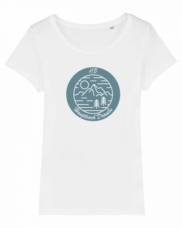 Hauptsach Draußn - Damen T-Shirt - Weiß - XXL