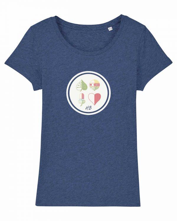 Kartnspuin - Damen T-Shirt - Blau Gesprenkelt - XXL
