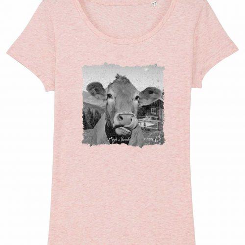Mogst a Bussal - Damen T-Shirt - Pink Gesprenkelt - XL