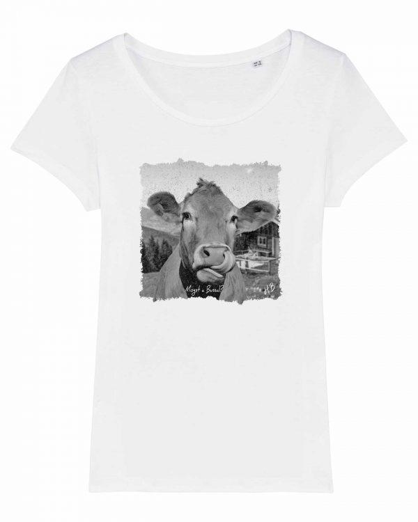 Mogst a Bussal - Damen T-Shirt - Weiß - XXL