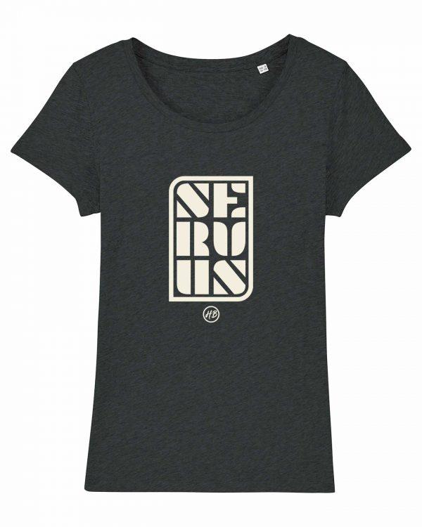 Servus - Damen T-Shirt - Dunkelgrau Gesprenkelt - XXL