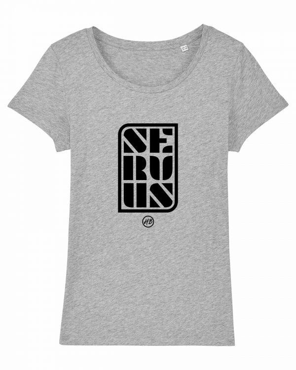 Servus - Damen T-Shirt - Hellgrau Gesprenkelt - XXL