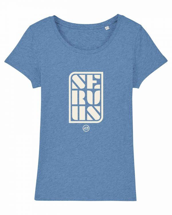 Servus - Damen T-Shirt - Hellblau Gesprenkelt - XXL
