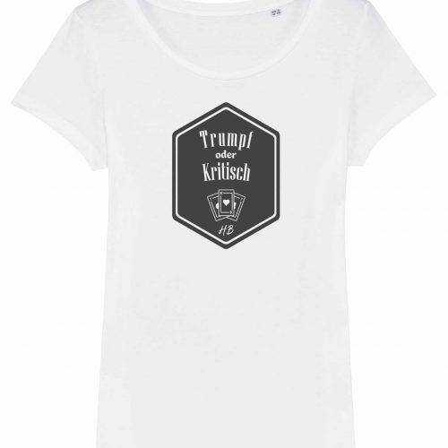 Trumpf oder Kritisch - Damen T-Shirt - Weiß - XXL