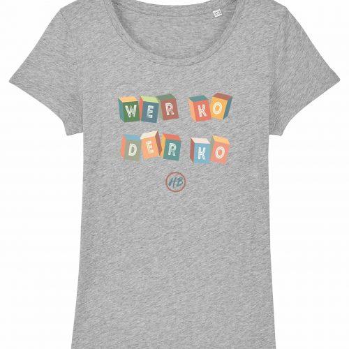 Wer Ko Der Ko - Damen T-Shirt - Hellgrau Gesprenkelt - XXL