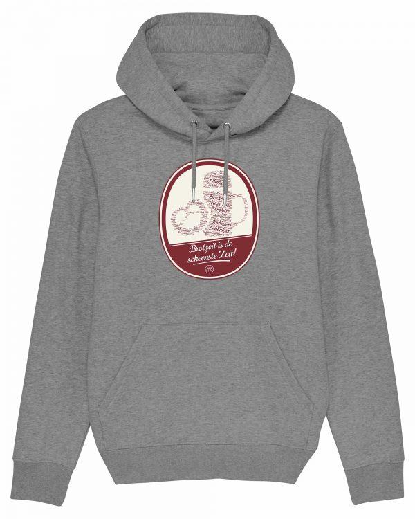 Brotzeit is de scheenste Zeit - Herren Premium-Hoodie - Grau Gesprenkelt - 3XL