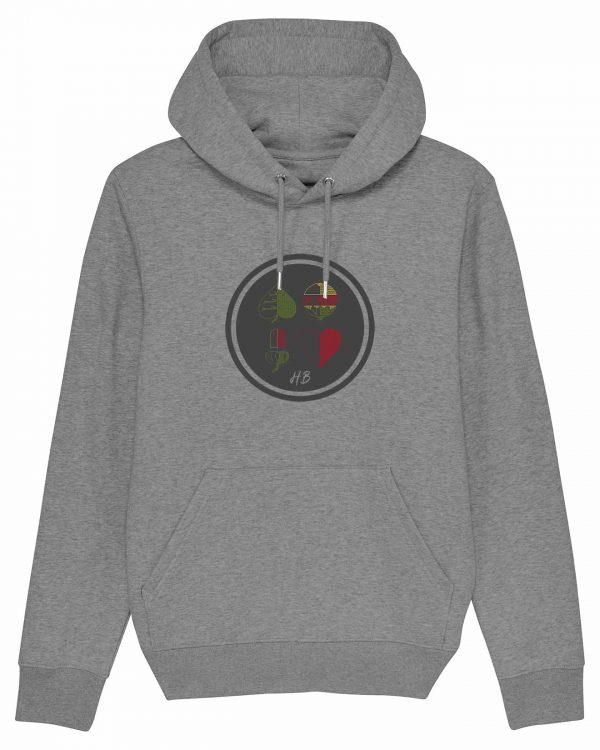 Kartnspuin - Herren Premium-Hoodie - Grau Gesprenkelt - 3XL