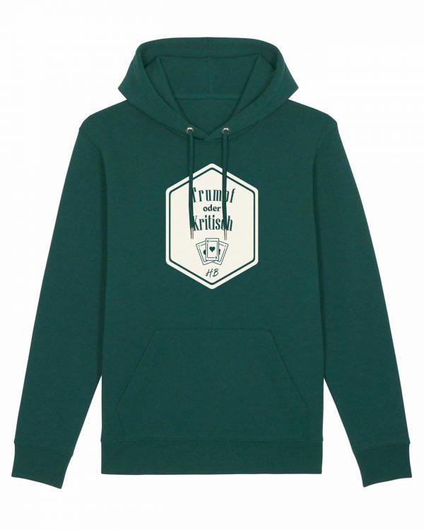Trumpf oder Kritisch - Herren Premium-Hoodie - Waldgrün - 3XL