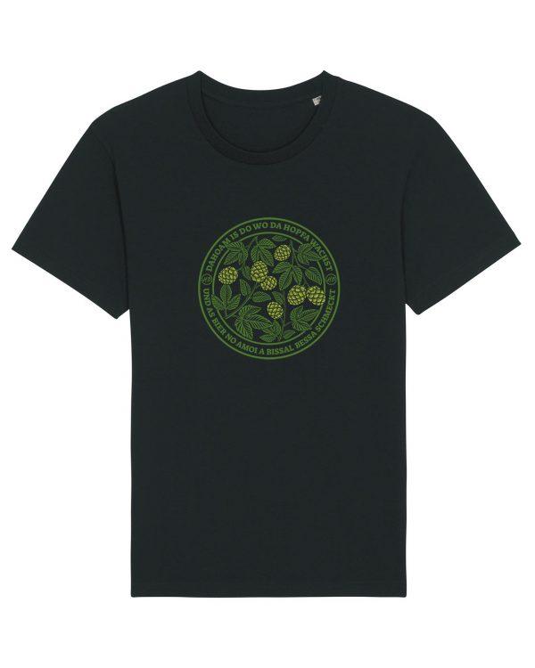 Dahoam Is Do Wo Da Hopfa Wachst - Herren T-Shirt - Schwarz - 3XL