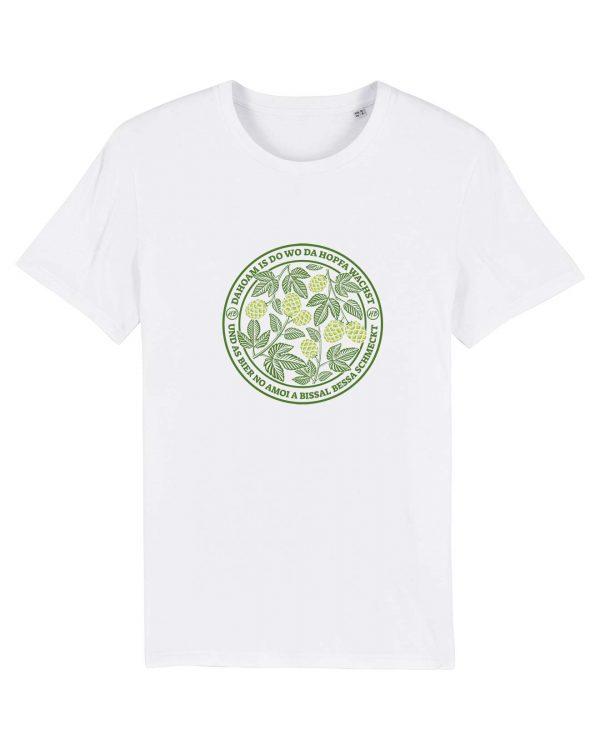 Dahoam Is Do Wo Da Hopfa Wachst - Herren T-Shirt - Weiß - 3XL