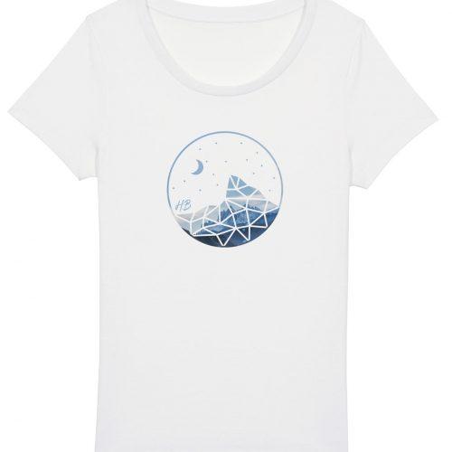 Auffe aufn Berg - Damen Basic T-Shirt - Weiß - XXL