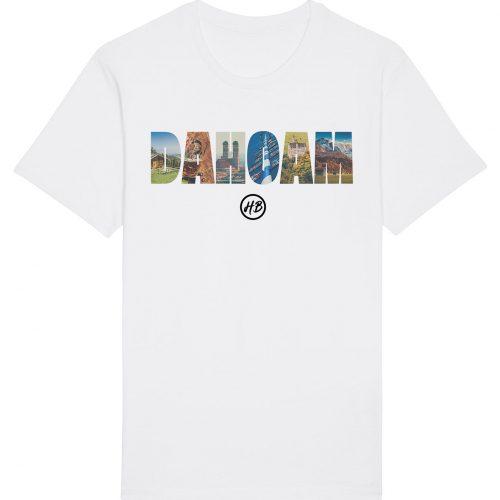 Dahoam - Herren Basic T-Shirt - Weiß - 4XL