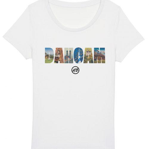 Dahoam - Damen Basic T-Shirt - Weiß - XXL