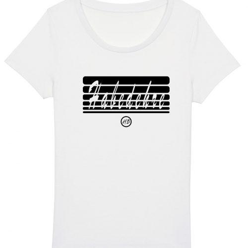 Habedehre - Damen Basic T-Shirt - Weiß - XXL