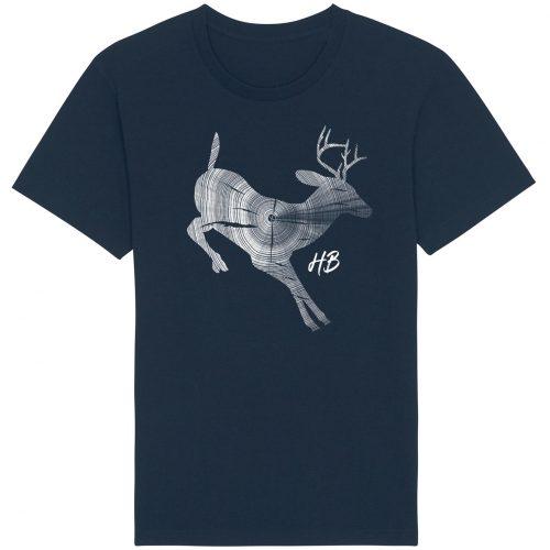 Hirsch Jahresringe - Herren Basic T-Shirt - Dunkelblau - 4XL