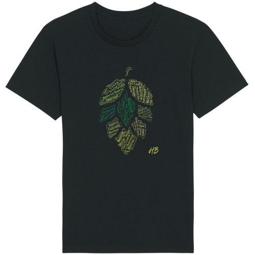 Hopfensorten - Herren Basic T-Shirt - Schwarz - 4XL
