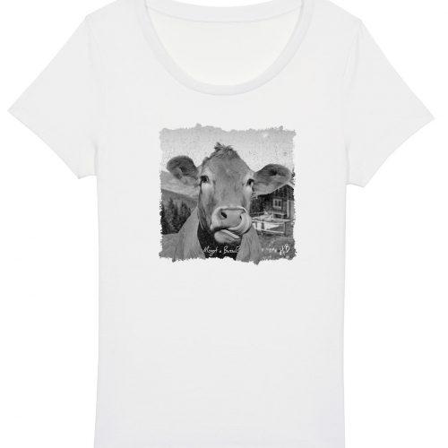 Mogst a Bussal - Damen Basic T-Shirt - Weiß - XXL