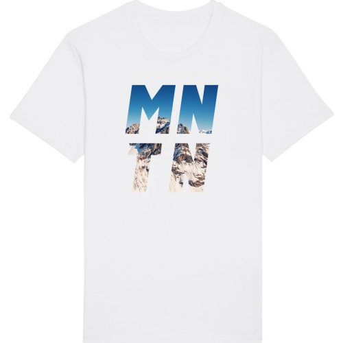 Mountain - Herren Basic T-Shirt - Weiß - 4XL