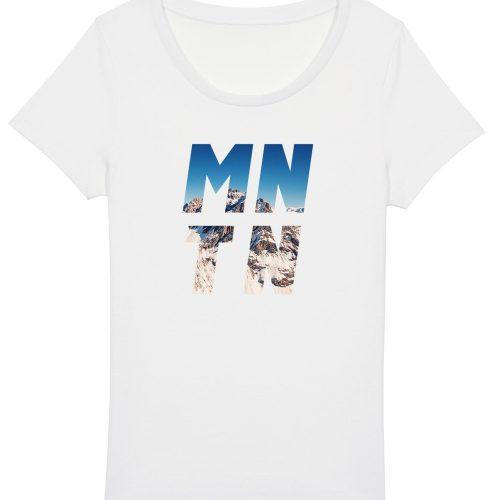 Mountain - Damen Basic T-Shirt - Weiß - XXL