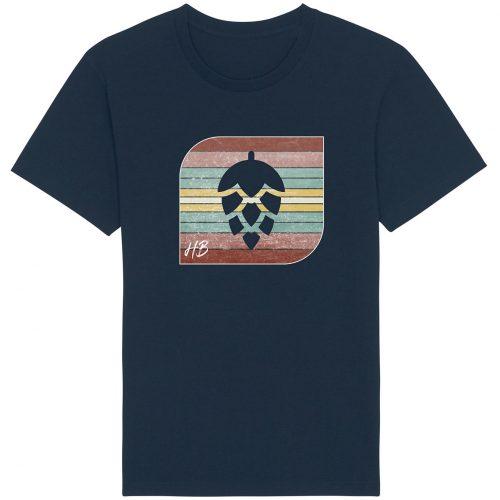 Retro-Hopfendolde - Herren Basic T-Shirt - Dunkelblau - 4XL