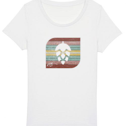 Retro-Hopfendolde - Damen Basic T-Shirt - Weiß - XXL