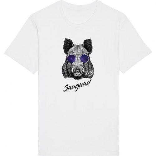 Sauguad - Herren Basic T-Shirt - Weiß - 4XL