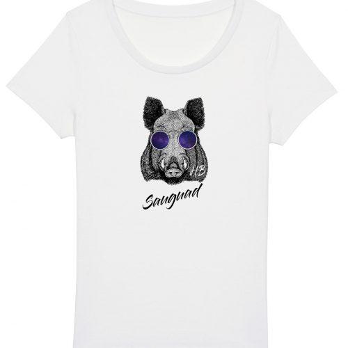 Sauguad - Damen Basic T-Shirt - Weiß - XXL