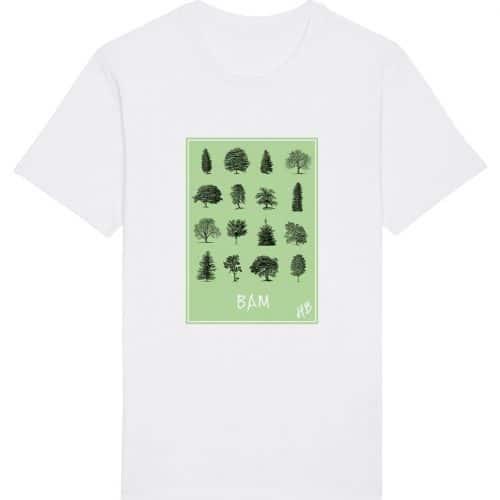 Bam - Herren Basic T-Shirt - Weiß - 4XL
