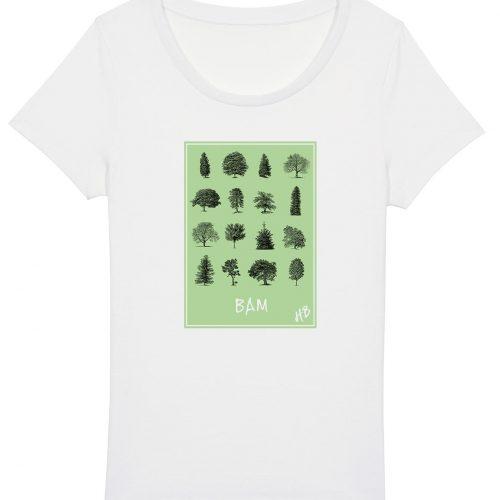 Bam - Damen Basic T-Shirt - Weiß - XXL